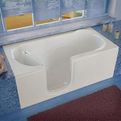 Spa World Venzi Vz3060silws Rectangular Soaking Walk-In Bathtub, 30×60, Left Drain, White