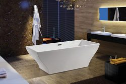 AKDY F296A Bathroom White Color Free Standing Acrylic Bathtub