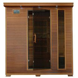 4-Person Cedar Infrared Sauna w/ 9 Carbon Heaters