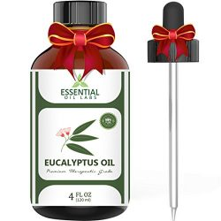 Eucalyptus Oil – Highest Quality Therapeutic Grade Backed by Research – Large 4 oz B ...