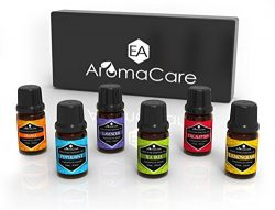 EA Aromacare Aromatherapy Essential Oils Gift Set,Therapeutic Grade, 100% Pure (Lavender,Pepperm ...