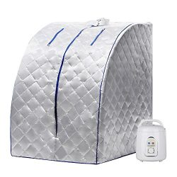 Homdox Portable Steam Sauna Room Indoor Sauna Steam Weight Loss At Home Keep Fit