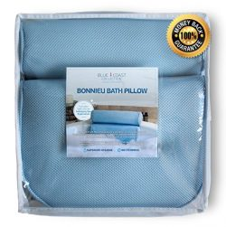 Blue Coast Collection–Bath Pillow for Tub with Konjac Sponge–Large Size for Bathtub, Hot Tub, Ja ...