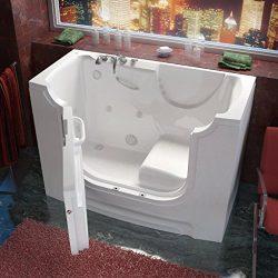 Meditub MT3060WCALWH Wheelchair Accessible 30 by 60 by 42-Inch Hydrotherapy Walk In Bathtub Spa  ...