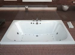 Atlantis Whirlpools 4060nwl Neptune Rectangular Whirlpool Bathtub, 40 X 60, Center Drain, White