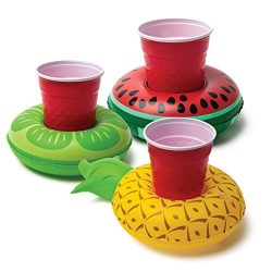 BigMouth Inc. Inflatable Pool Party Drink Floats – Tropical 3 Pack!