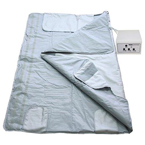 Gizmo Supply Digital Far-Infrared (FIR) Heat Sauna Blanket with 3 Zone Controller