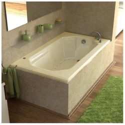 Atlantis Whirlpools 3660mal Mirage Rectangular Air Jetted Bathtub, 36 X 60, Left Drain, White