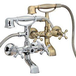 FREUER Vasca Collection: Classic Clawfoot Tub Faucet – Wall Mount, Polished Chrome