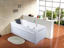 KOKSS C009 Acrylic Whirlpool Bathtub with Hydrotherapy Massage Jets
