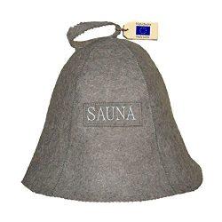 Allforsauna Sauna Hat Russian Banya Cap 100% Wool Felt Modern Lightweight Head Protection for Me ...