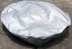 Round hot tub cover cap Dia 81″x12″ spa cover sun shield