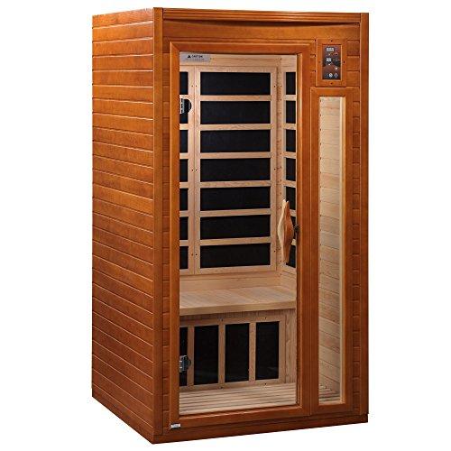 DYNAMIC SAUNAS AMZ-DYN-6106-01 Barcelona 1-2 Person Far Infrared Sauna – Curbside Shipping