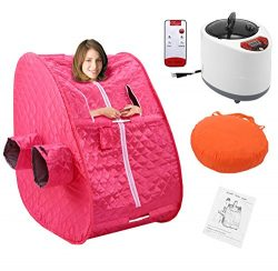 Oanon Portable Steam Sauna With Remote Control – Weight Loss Therapeutic Detox Steam Keep  ...