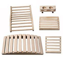 Radiant Saunas SA5024 Deluxe Sauna Accessory Kit, 23.625″ x 11.75″ x 4.33″, Na ...