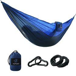 Camping Hammocks – TOPQSC Camping Hammocks Ultra-light Portable Compact Nylon Hammock Perf ...