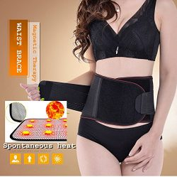 Lumbar Lower Back Brace and Support Belt with Dual Adjustable Straps.Spontaneous heat Acupunctur ...