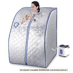 Uenjoy 2L Portable Home Steam Sauna Spa Full Body Slimming Loss Weight Detox Therapy