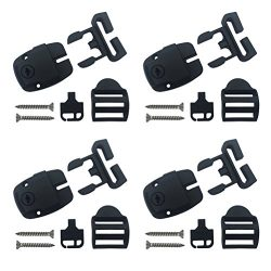 4 Set Spa Hot Tub Cover Broken Latch Repair Kit have Slot – Replace Latches Clip Lock with ...