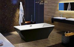 AKDY F296B Bathroom Black Color Free Standing Acrylic Bathtub