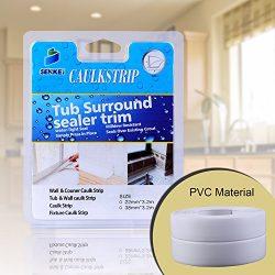 Caulk Strip, Oumers PVC Strong Self Adhesive 1-1/2″x11′ Caulk Sealer Best for Fixtur ...