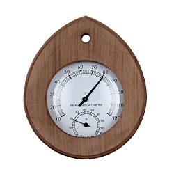 Single Sauna Wooden Thermometer Hygrometer Sauna Room Accessory