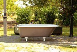 Freestanding Feu de Bois Brown Antique Refinished 5′ Clawfoot Bathtub Cast Iron Bathtub Pa ...