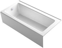 KOHLER 847-0 Bellwether 66″ x 32″ Alcove Bath with Integral Apron, Tile Flange and L ...