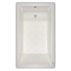 Signature Bath LPI18-A-RD Drop-In Air Injection Bathtub with Stainless Jets – Right Drain, ...