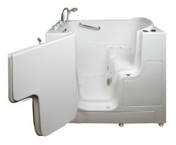 Wheelchair Access 4.33 Ft. Walk-in Bathtub in White-ella Walk in Baths-305221l