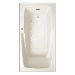 Signature Bath LPI16-A-LD Drop-In Air Injection Bathtub with Stainless Jets – Left Drain,  ...