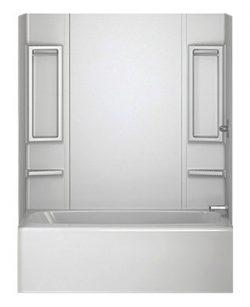 Peerless 40164 White 5-Piece Adhesive Tub Wall