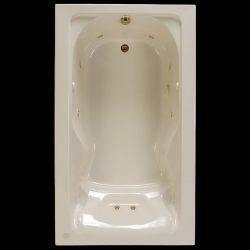 American Standard 2774002-0R0.020 Cadet Soaking Bathtub, 6-Feet x 42-Inch, White