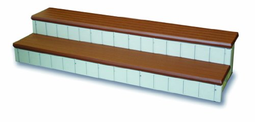 QCA Spas LASS74R Two Toned Hot Tub Step, 74-Inch, Red Wood