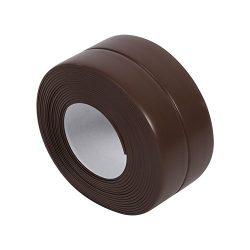 Brown Wall Caulk Tape Adhesive Edge Sealing Strip Anti-Scratch Corner Guard Protector Kitchen Ga ...