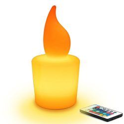Mr.Go 11-inch Dimmable LED Candle Night Light Mood Lamp for Kids and Adults – 16 RGB Color ...