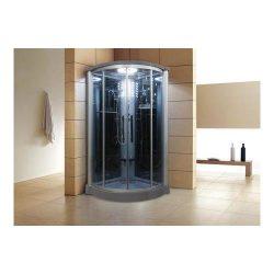 WS801L 42 Eagle Bath WS-801L Steam Shower Enclosure Unit with 6 mm Tempered Blue Glass Temperatu ...