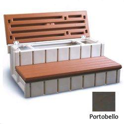 Confer Plastics LASS36-SC-P 36 in. Storage Step Portobello