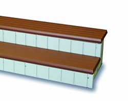 QCA Spas LASS36R Two Toned Spa Step, 36-Inch, Red Wood