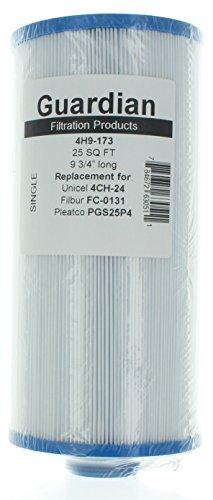 2 Guardian Pool Spa Filter Replaces Unicel 4CH-24 Pool Filter 25 Sq Ft Filbur FC-0131 Pleatco PGS25P