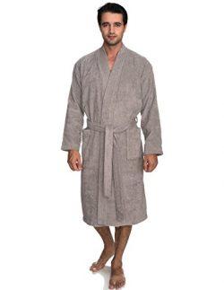 TowelSelections Men's Robe, Turkish Cotton Terry Kimono Bathrobe X-Large/XX-Large Paloma Gray