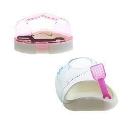 Small Animal Plastic Hamster Bathroom Bath Sand Room Sauna Toilet Bathtub , 2 Pack ,Color May Varies