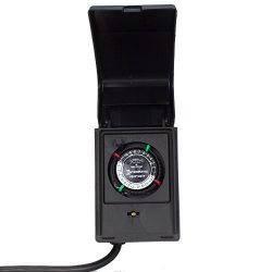 Intermatic P1121 Heavy Duty Outdoor Timer 15 Amp/1 HP for Pumps, Aerators, Heaters, Holiday Deco ...