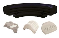 Intex PureSpa Hot Tub Accessories Package – Headrest, Bench, Seat, and Cupholder