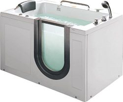 Deluxe Hydrotherapy Water / Air Whirlpool Massage Walk In Bathtub Tub