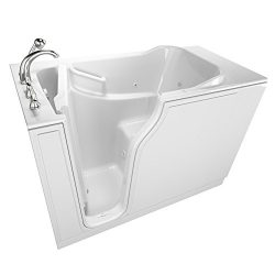 American Standard SSA5230LD-WH Gelcoat Entry Series 52″ x 30″ Walk-In Bathtub with A ...