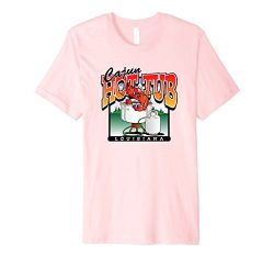 Mens Cajun Hot Tub Crawfish Boil Tee Shirt 2XL Pink