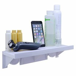 OKOMATCH Bathroom Shelf Without Drill & Nail,Easy Installing Super Suction Cup Wall Mounted  ...