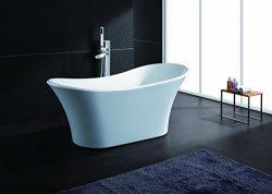 AKDY Bathroom White Color FreeStand Acrylic Bathtub And Faucet AZ-F274-8733