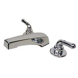 Builders Shoppe Mobile Home Non-Metallic Two Handle 3340CP Adjustable Garden Tub Filler Faucet,  ...